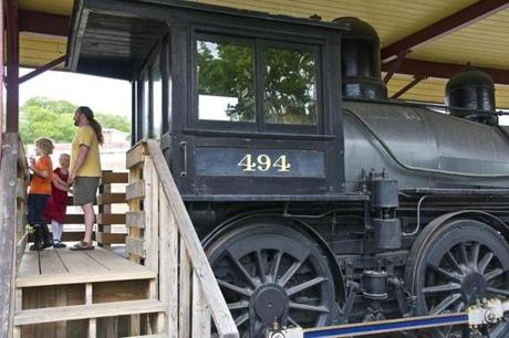 Engine No. 494, a Boston & Maine locomotive from 1892.
