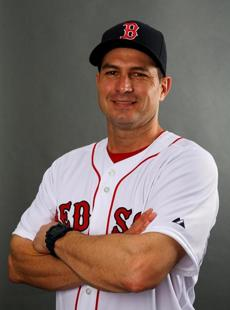 Red SOx hitting coach Greg Colbrunn. (Photo by Elsa/Getty Images)