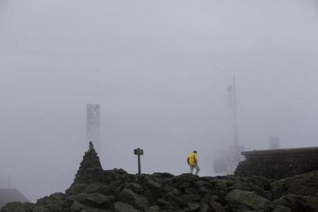 Dick Pantalone enjoyed fog-covered Mount Washington Thursday.