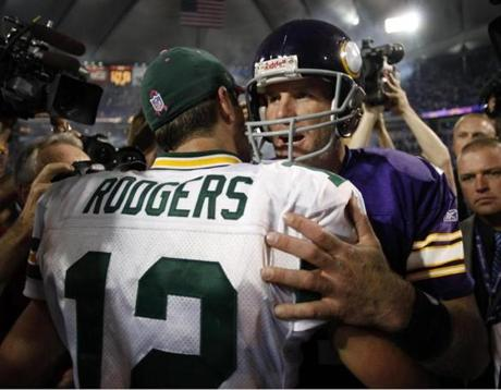 Favre achieved a goal when he beat Rodgers and the Packers in a Vikings uniform in 2009.