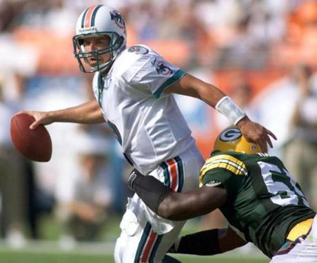 Jay Fielder quarterbacked the Dolphins while they earned playoff spots in the first two seasons after Marino retired.