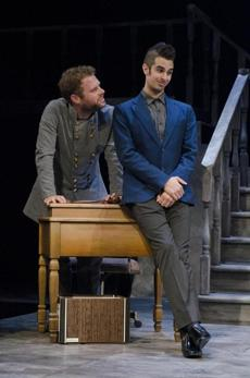 "Dylan Saunders (left) and Joey Richter in ""The Last Days of Judas Iscariot"" at Stage 773."