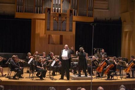 Wesley Ray Thomas, a baritone, performed in June with the Me2 Orchestra at the University of Vermont. The orchestra is a classical ensemble for those with mental health issues.