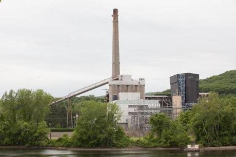 The Mt. Tom coal-fired power plant in Holyoke was shut down on June 2. d