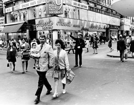 May 13 1969 / fromthearchive / Globe Staff photo by William Ryerson / Shoppers at Washington and Summer streets.