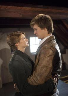 "Ansel Elgort, right, and Shailene Woodley in ""The Fault In Our Stars."""