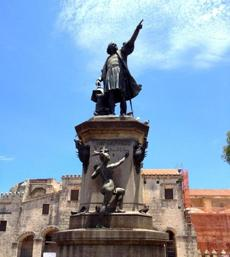 The statue of Christopher Columbus in Santo Domingo.