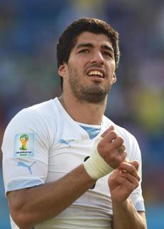 It is the third biting incident involving talented but controversial striker Luis Suarez.