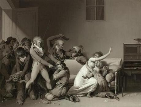 The Clark Art Institute - Louis LŽopold Boilly (French, 1761�1845), Second Scene of Burglars: The Burglars Arrested, 1810. Oil on canvas 10 7/8 x 13 7/8 in. The Clark, 2007.10 Photo credit: Courtesy of The Clark Art Institute -- 29Clark
