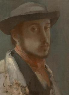The Clark Art Institute - Edgar Degas (French, 1834�1917), Self-Portrait, c. 1857�58. Oil on paper, mounted on canvas 10 1/4 x 7 1/2 in. The Clark, 1955.544 Photo credit: Courtesy of The Clark Art Institute -- 29Clark