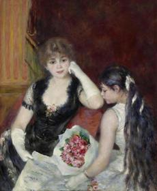 The Clark Art Institute - Pierre-Auguste Renoir (French, 1841�1919), A Box at the Theater (At the Concert), 1880. Oil on canvas, 39 1/8 x 31 3/4 in. The Clark, 1955.594 Photo credit: Courtesy of The Clark Art Institute -- 29Clark