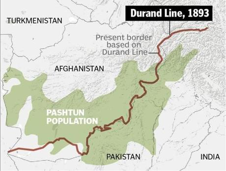 The line separated Afghanistan from the British Raj in India and is the border between Afghanistan and Pakistan today. Drawn by a British civil servant in 1893, it runs through traditional Pashtun country.