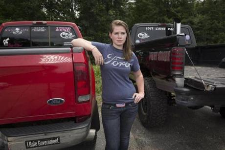 Diesel enthusiast Sarah Meaney owns two pickup trucks.