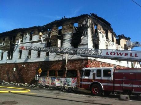 The fire broke out in a nine-unit apartment building on Branch Street early Thursday, according to a spokeswoman.
