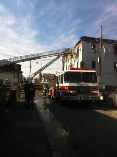 Officials said 48 people lived in the building, which had businesses on the ground floors.