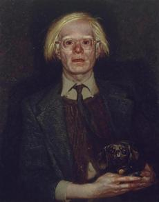 Portrait of Andy Warhol Jamie Wyeth (American, born in 1946) 1976 Oil on gessoed panel *On loan from the permanent collection of Cheekwood Botanical Garden and Museum of American Art. © Jamie Wyeth. *Courtesy, Museum of Fine Arts, Boston -- 20Wyeth