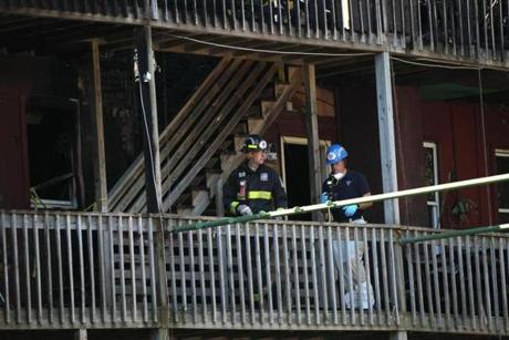 Investigators worked on the second floor.