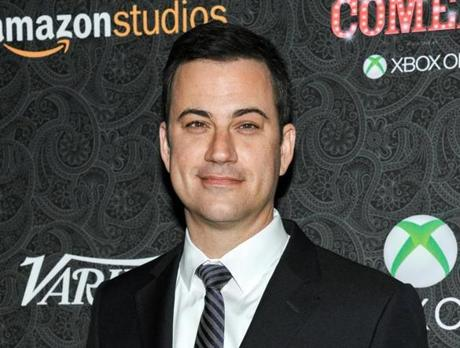 FILE - This Nov. 16, 2013 file photo shows Jimmy Kimmel at the 4th Annual Variety's Power of Comedy Event in Los Angeles. Kimmel announced on Twitter that he welcomed a daughter Thursday, July 10, 2014, with wife Molly McNearny. A spokesman for Kimmel confirmed that Jane Kimmel was born Thursday in Los Angeles. The 46-year-old comedian also saw his late-night show earn three Emmy nominations Thursday morning, including a nod for outstanding variety series. (Richard Shotwell/Invision/AP, File)