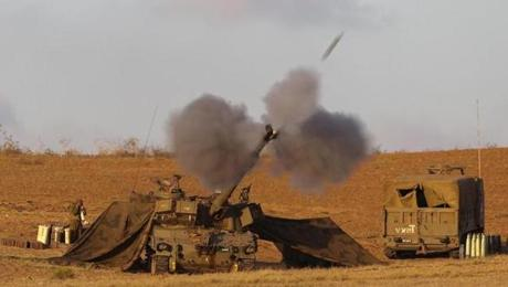 An Israeli military unit near the border fired at targets in the Gaza Strip.