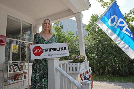 "Dawson invited neighbors to her store to write letters to state lawmakers and representatives in Congress, to express opposition to the pipeline. ""The more I read, the more concerned I got,"" Dawson said."
