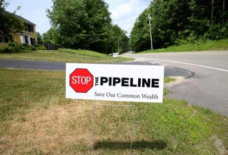 Kinder Morgan has proposed a high-pressure gas pipeline that would branch off theirTennessee Gas Pipeline, which runs from Texas to the Northeast, entering the state from Connecticut and curling through Boston's western suburbs on its way north. The pipeline would travel through conservation land, and under this property on Elm Street in Pepperell.