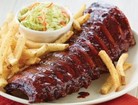 Smoked ribsSawmill Pizzeria & Smokehouse, 1480 Broadway Rd., DracutThe ribs are dry-rubbed and smoked for several hours before being pulled out and doused in a signature barbecue sauce. $13.40 for a half rack and $18.90 for a full rack, served with a choice of two sides, such as french fries and coleslaw. www.sawmillpizzeria.com.