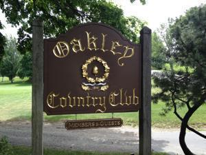 The entrance to Oakley Country Club in Watertown, founded in 1898.
