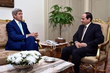 Kerry met with Egyptian President Abdel Fattah al-Sissi last week to discuss Cairo's efforts to broker a cease-fire between Israel and Hamas.