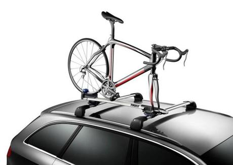 Thule T-Tracks bike carrier.