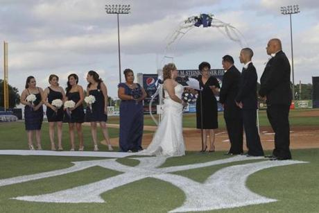 The New York Yankees' spring training facility in Tampa carries enough cachet to be a popular site for weddings.