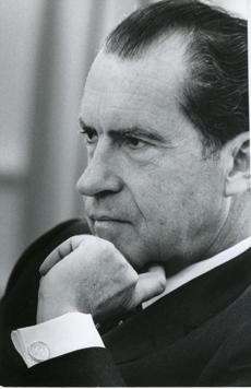 "Nixon as he appears in ""Nixon by Nixon"""