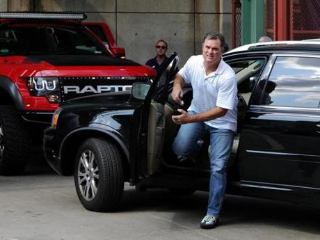Red Sox manager John Farrell arrived at Fenway Park after a multitude of trades last week.