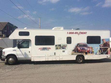 Our rental RV in Tyngsborough was an eye-catching ad for Cruise America.
