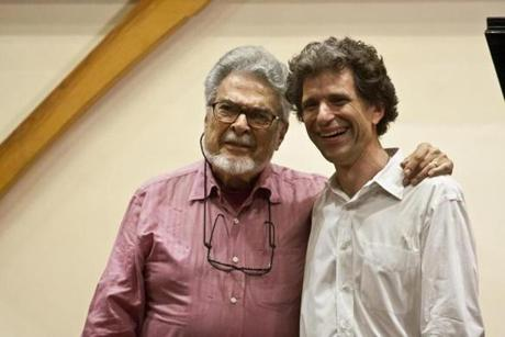 Leon Fleisher (left) with Yellow Barn artistic director Seth Knopp.