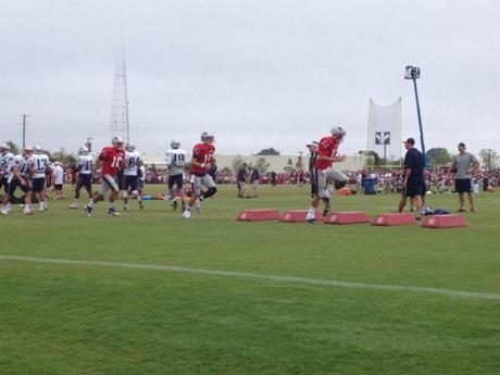 The Patriots have three practices with the Redskins before the teams play Thursday.
