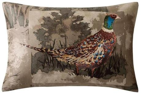 Pheasant throw pillow.