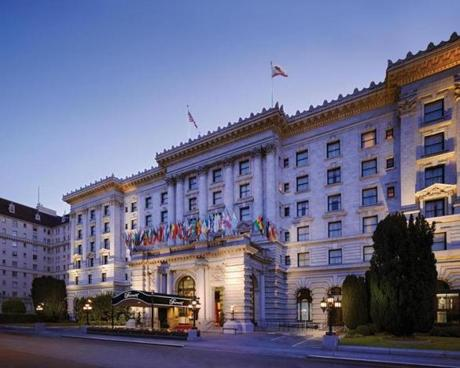 The iconic face of the hotel reflects its status on the National Register of Historic Places.