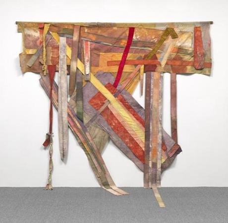 Loving Credit: Al Loving (American, 1935Ð2005), Brownie, Sunny, Dave, and Al, 1972 (later revised). Mixed media (stained canvas, torn, cut and sewn; wooden rod), 174 x 132 3/4 in. (442 x 337.2 cm). National Gallery of Art, Washington, D.C. Pepita Milmore Memorial Fund, 2013.61.1 © Estate of Al Loving, courtesy Garth Greenan Gallery, New York -- 15new