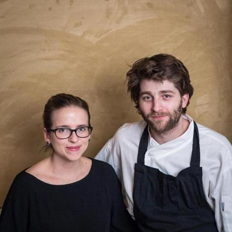 From left: Famke Dequidt and chef Jason Blanckaert.