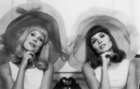 OPS photo by motion pictures catherine deneuve and francoise dorleac in the young girls of rochefort 17demy