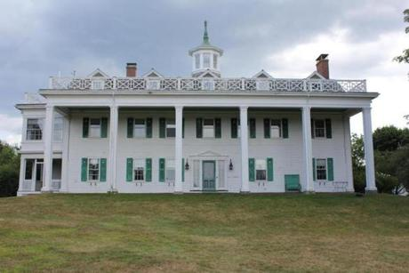 The Emery Estate's mansion was based on George Washington's Mount Vernon.