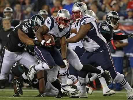 Foxborough, MA - 08/15/14 - (3rd quarter) New England Patriots running back Roy Finch finds a hole (29) on this carry in the third quarter. The New England Patriots take on the Philadelphia Eagles in a pre-season exhibition game at Gillette Stadium. - (Barry Chin/Globe Staff), Section: Sports, Reporter: Shalise Manza-Young, Topic: 16Patriots-Eagles, LOID: 7.4.1027210871.