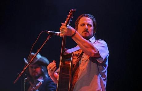 Gilford, NH - Saturday, Aug. 16, 2014: Country-music artist Sturgill Simpson performing with his band at Bank of New Hampshire Pavilion. Sturgill Simpson opened for the Zac Brown Band at the Pavilion. CREDIT: Cheryl Senter for The Boston Globe