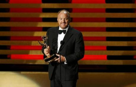 Comedian Louis C.K. accepted the Emmy award for Outstanding Writing for a Comedy Series for