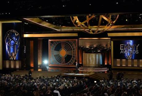 The stage at the 66th Annual Primetime Emmy Awards held at Nokia Theatre L.A.