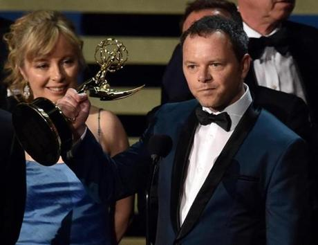 Creator/Executive Producer Noah Hawley accepted the Outstanding Miniseries Award for