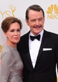 Bryan Cranston and Robin Dearden arrived on the red carpet. Cranston won outstanding lead actor, drama, for