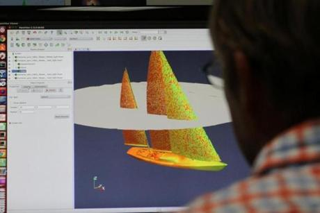 Doyle uses computer software to design sails with 3D modeling, and also designs simulations to test sails instead of the more traditional use of models in wind tunnels and tow tanks.