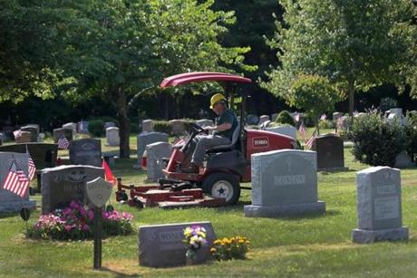 Fifteen years after it was first proposed, the town broke ground this summer onanew cemetery, Stetson Meadows, to replace the at-capacity Washington Street Cemetery, which has about 25 spaces left. The plan was stalled by the discovery of protected Eastern box turtles on the site; the town had to build them a sanctuary before cemetery construction could start.
