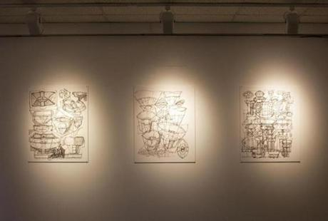 A series of Daley's sketches at MassArt.
